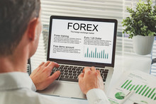 Forex Concept On The Screen Of...