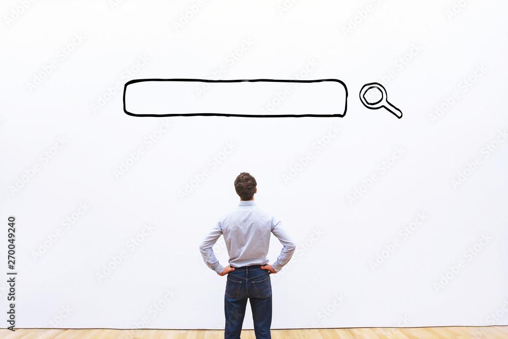 Fototapeta search concept, browsing line on internet, find information online