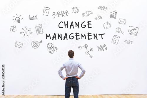 Pinturas sobre lienzo  change management concept