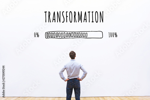 transformation business concept  with progress bar Canvas Print