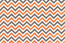 Watercolor Orange And Grey Stripes Background, Chevron.