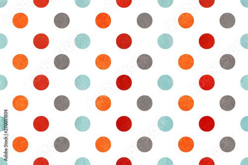 Photo  Watercolor polka dot background.