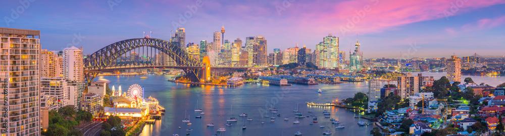 Fototapety, obrazy: Downtown Sydney skyline in Australia