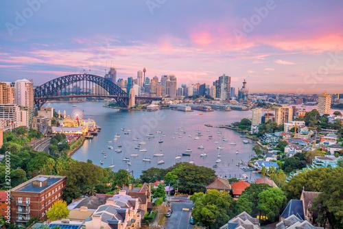 Poster Océanie Downtown Sydney skyline in Australia