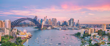 Downtown Sydney Skyline In Aus...