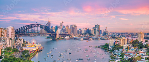 Downtown Sydney skyline in Australia Canvas Print