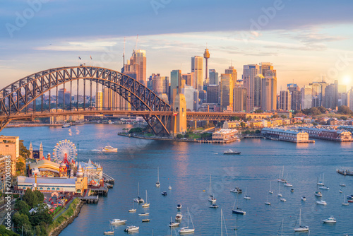 Canvas Print Downtown Sydney skyline in Australia