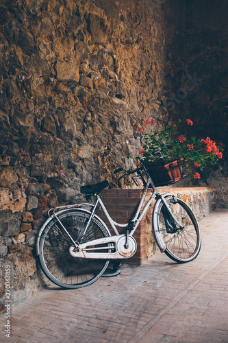 Romantic Bicycle with flowers