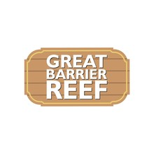 Great Barrier Reef Sign, A Hanging Sign