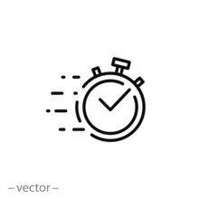 Quick Time Icon, Fast Deadline...