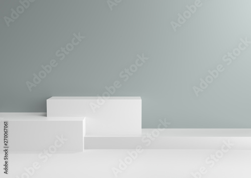 Podium In Abstract Cool Mint Relaxing Color Schemes 3d