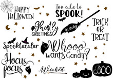 Halloween Quotes Vector Bundle