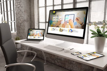 Industrial Office Mockup Ux Design Website
