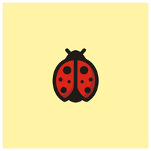 Ladybug Clip Art Icon Logo Des...