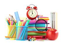 School Supplies With Alarm Clo...