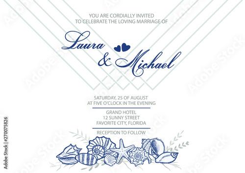 Wedding Invitation Card Template For The Invitation