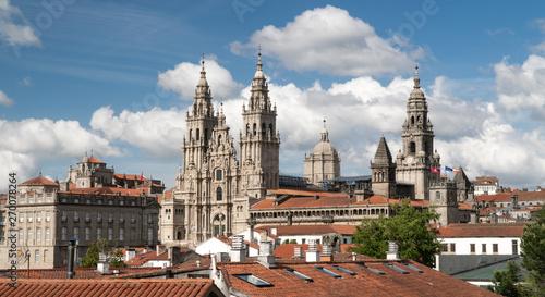 View of the Santiago de Compostela cathedral