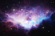 canvas print picture - Glowing huge nebula with young stars. Space background