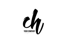 Black And White Ch C H Alphabet Letter Combination Logo Icon Design