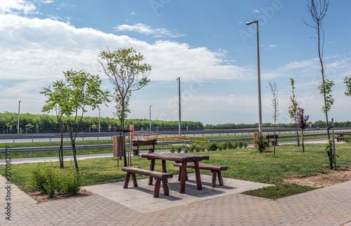 Obraz Freeway Recreation Place. Recreation area on the highway. - fototapety do salonu