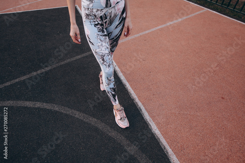 Sporty attractive slim woman Canvas Print