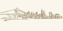 New York Skyline Drawing