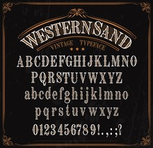 Typeface, Western Font Alphabet, Numbers And Signs