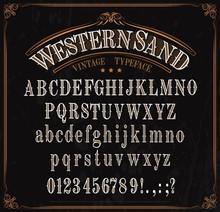 Typeface, Western Font Alphabe...