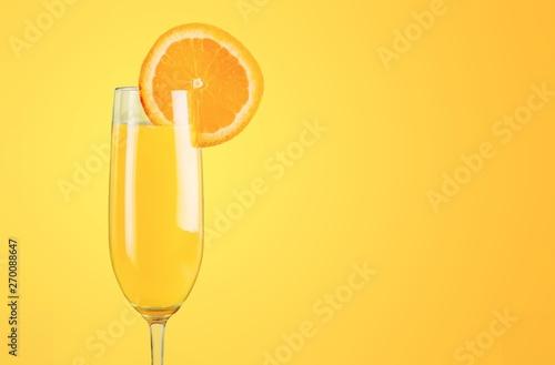 Fototapeta Cocktail orange drink on desk obraz