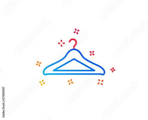 Fototapeta Cloakroom line icon
