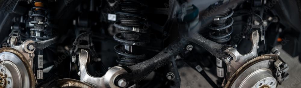 Fototapety, obrazy: Kollage von Mechanischen Bauteilen (Automobile)