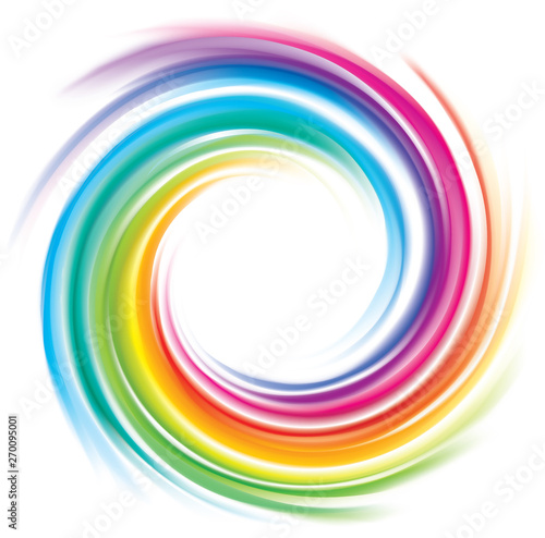 Fototapeta Vector backdrop of spiral rainbow spectrum