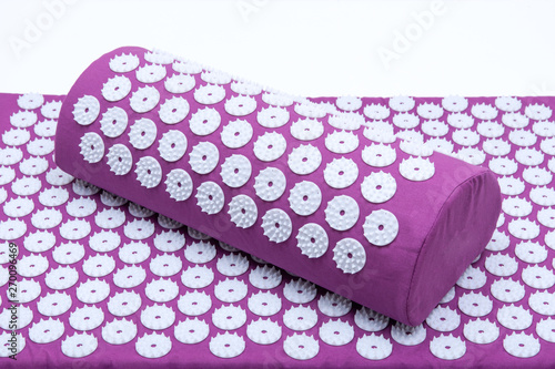 Acupressure Mat and Pillow Set for Back and Neck Pain Relief and Muscle Relaxation Canvas Print
