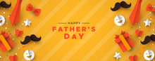 Fathers Day Banner Of Paper Ic...