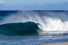 Beautiful Breaking Ocean Wave In Hawaii