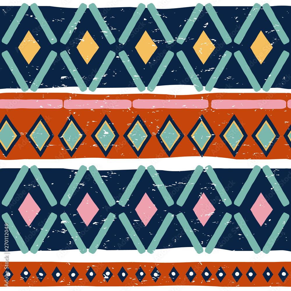 Photo Ikat geometric folklore seamless pattern