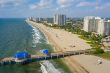 Aerial Shot Of Pompano Beach For Post Card