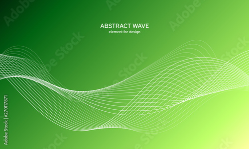 Abstract wave element for design Canvas Print