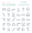 Set Vector Line Icons of Sport Shooting.