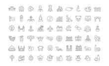 Set Vector Line Icons Of Singa...