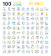 Set Vector Line Icons of Science