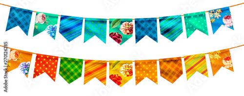 Fotografie, Obraz Bandeira Festa Junina varejo