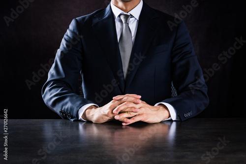 Fototapeta 交渉するビジネスマン