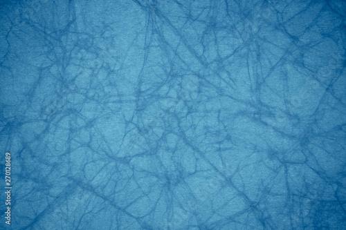 Obraz na plátně  Blue crumpled paper texture
