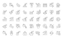Set Vector Line Icons Of Investment