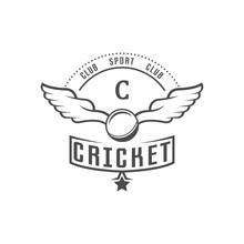 Cricket Club Logotype.