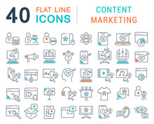 Set Vector Line Icons Of Conte...