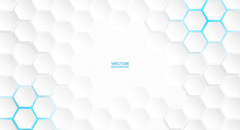 Abstract. Hexagon White Backgr...