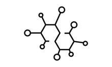 Molecule Icon Vector Flat Temp...