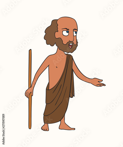 Photo cartoon ancient Greek orator